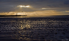 Volcanic Sunset (Andrew Paul Watson) Tags: world sunset cloud lighthouse west beach andy coast scotland group andrew watson ash volcanic moray largest lossiemouth the coversea