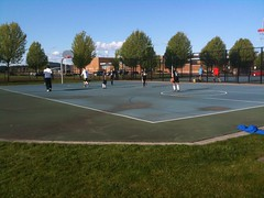 Basketball and tennis at Fisher Basin Community Park