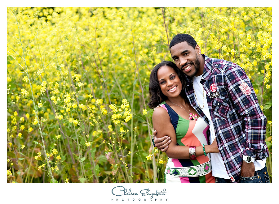 Yellow mustard field los angeles engagement session