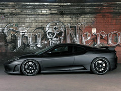 Ferrari F430 TuNero (Buburooz) Tags: black matt ferrari graffitti f430 blackrims tunero