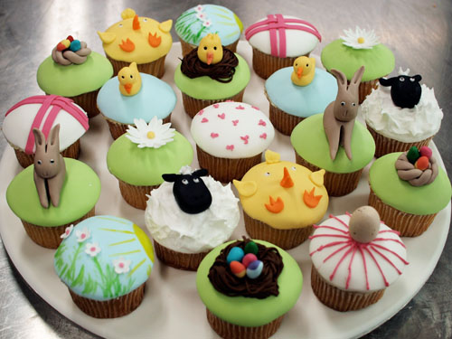 Planet Cake Easter Cupcakes Group Shot