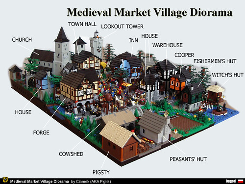 Fascinating LEGO Model Of The Day Medieval Market