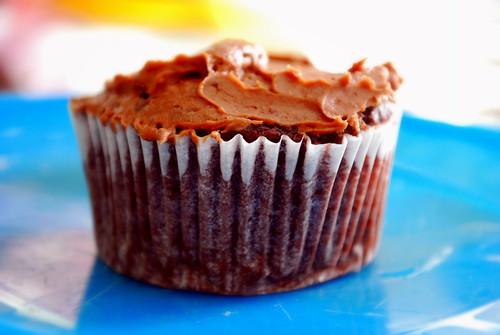 Chocolate Chocolate Chip Cookie Dough Cupcake