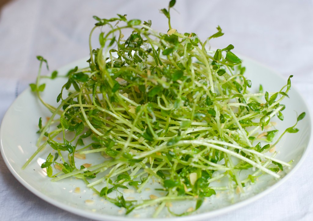 how to eat pea shoots