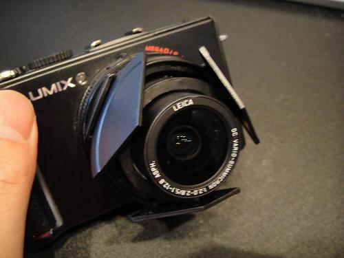 LUMIX LX3にLC-1を装着
