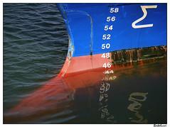 Bow (AurelioZen) Tags: reflection netherlands geotagged harbour scheveningen northsea bow fishingship outdoortype depthscale lumixgvario452003556ois geo:lat=52100245 geo:lon=4267518
