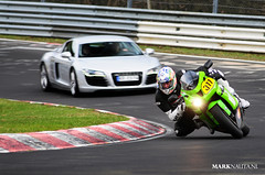 Bike hunting (marknauta.nl) Tags: green germany deutschland nikon mark nikkor audi circuit kawasaki r8 80200 kerbs zx6r nordschleife d300 nurburgring nauta kerbstone touristenfahrten marknautanl marknauta