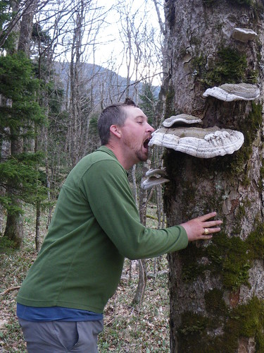 Chris eating fungi