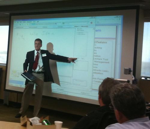 Kurt Gramoll sharing his keynote at ODLA 2010