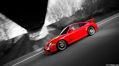 GT3. (Denniske) Tags: red motion speed canon rouge photography eos movement angle action 10 04 911 wide sigma automotive 18th porsche coloring april mk2 mm dennis 18 panning 1020 rood rosso 2010 selective mkii gt3 997 noten f456 rt 40d cartocar denniske
