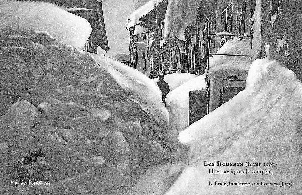 Les Rousses après une tempête de neige fin janvier 1907