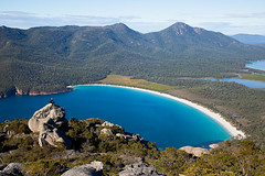 Wineglass Bay Tasmania Australia (john white photos) Tags: ocean blue sea australia tasmania hiker wineglassbay pristine freycinet tasi mtamos