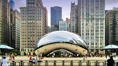 The Bean - Chicago's Cloud Gate (Sky Noir) Tags: city sky cloud chicago art skyline gate noir outdoor bean mkd skynoir bybilldickinsonskynoircom