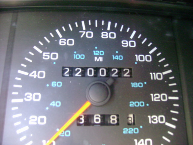 numbers dodge 1991 daytona mileage odometer palindrome