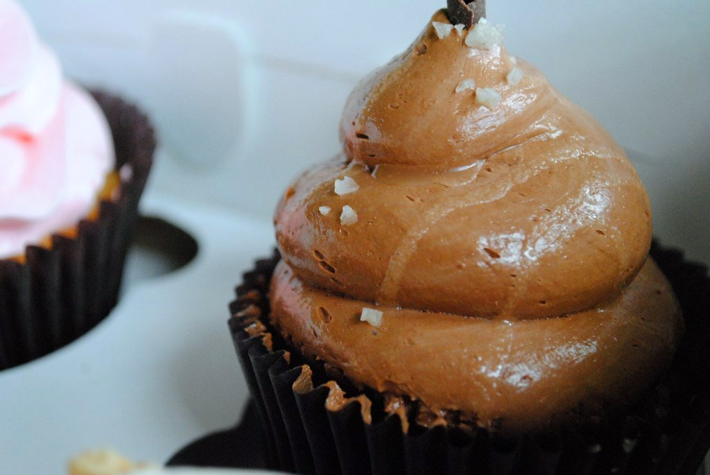 CHOCOLATE SALTED CARAMEL CUPCAKE.
