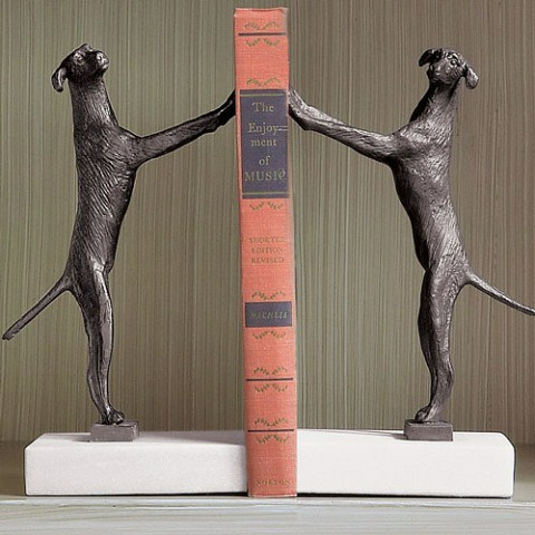 dog-bookends