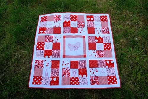 Pip's redwork quilt