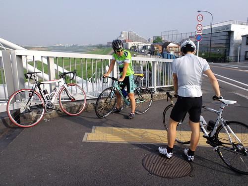 待ち合わせの多摩川原橋