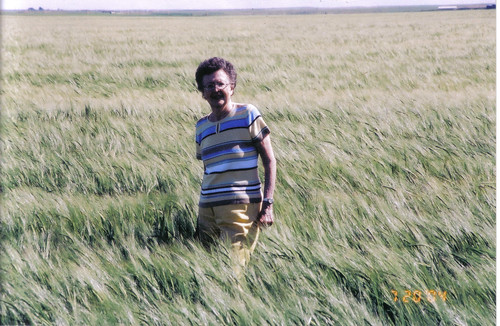 Carol in Barley field 2004
