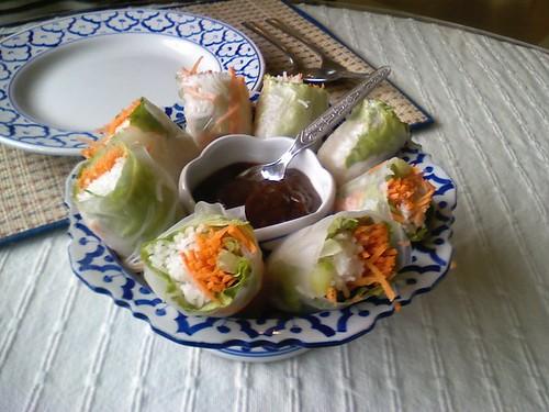salad rolls Krua Wilai