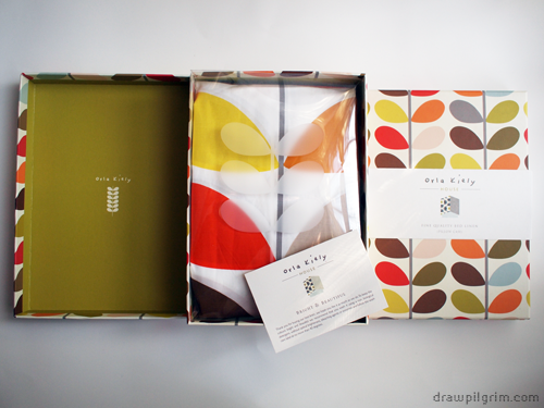 orla kiely sheet packaging
