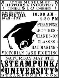 Steampunk University Flyer