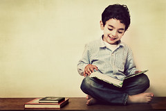 SAIF (irfan cheema...) Tags: boy reading book child son saif irfancheema