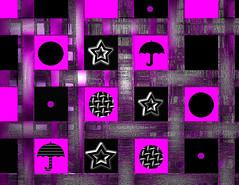 CirclesandUmbrellas (jacx2011) Tags: pink abstract black stars purple squares modernart circles umbrellas christianart