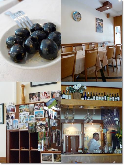 Olives, Interior of Italia Mia, Bar