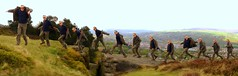 Jumping outa my coat!! (Mike-Lee) Tags: autostitch mike jump jumping clones clone ilkleymoor takenbyjill may2010 13mikes