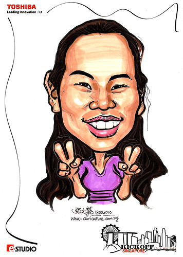 Caricature of Kristanee