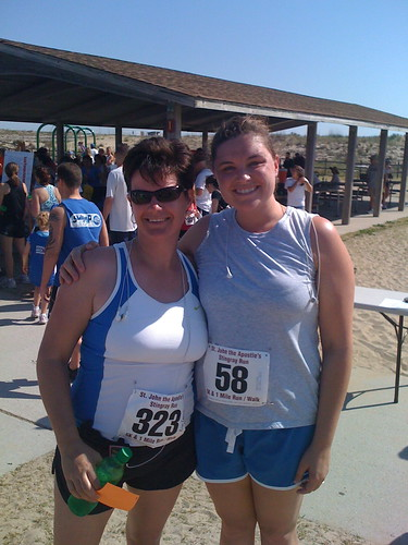 Kim and I post race