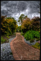 Follow the Red Brick Road (Romany WG) Tags: summer storm clouds garden studio design exterior path interior pebbles thunder gibbs designers 2010 rill acers wixon