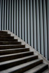 Detail, Stairs, Aqua Tower, Chicago, 2009 (jeffery c johnson) Tags: street urban usa chicago detail art beautiful architecture stairs america skyscraper illinois midwest aqua aquatower
