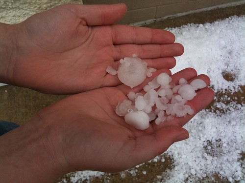Oklahoma City hail at Tinseltown