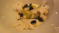 Course 3: Pickled cauliflower with cep custard, cucumber hearts and