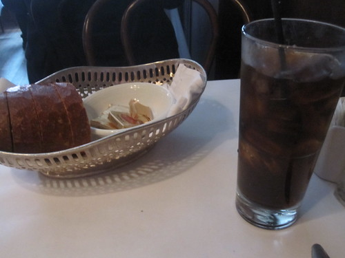 bread and cola at John's Grill
