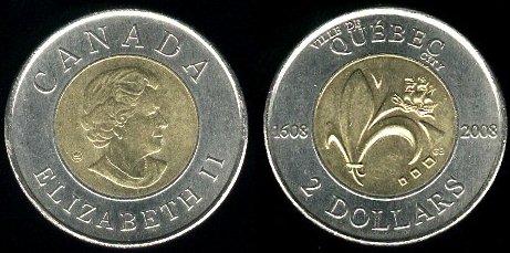 2 doláre Kanada 2008, Quebec