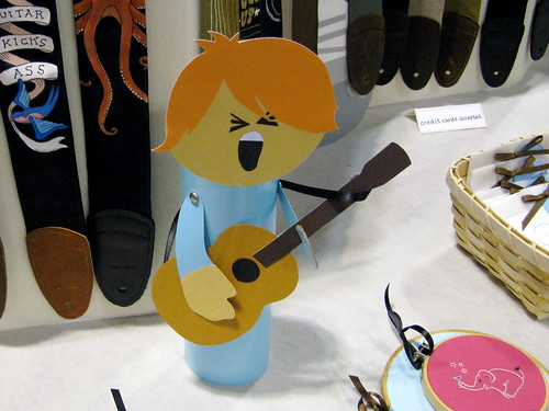 Guitar strap display kid