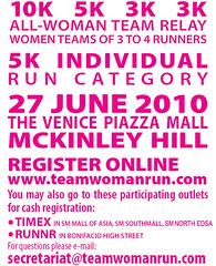 Team woman run 2010 race results