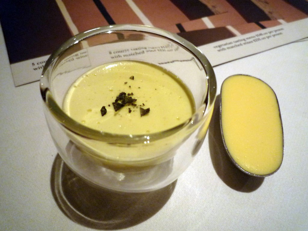 Olive oil emulsion and smoked butter