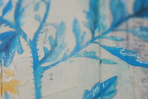 Brush away acryl from vaseline, detail 2