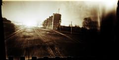 Hurried sunset (batuda) Tags: pinhole d76 ilford kaunas hp5plus wppd mathchbox kalnieciai