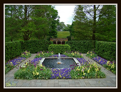 Square Fountain (nanaaphotos) Tags: flowers nature spring pa longwoodgardens foutain