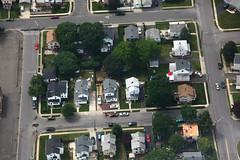 Edison neighborhood (dougschneiderphoto) Tags: street houses usa house newjersey nj aerial blimp airship metlife edison dirigible workingclass snoopyone