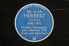 Photo of Alan Herbert blue plaque