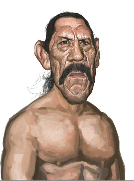 digital sketch of Danny Trejo - 7 small