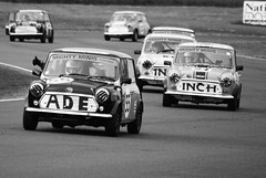 Might Mini's on slow down lap (Matt Barrington) Tags: white black castle up photography inch icons matthew may down lap louise british thumbs mighty 31st minis motorsport 2010 barrington raceday combe slowing