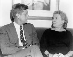 Senator John F. Kennedy and Marie La Guardia, circa 1960. (La Guardia and Wagner Archives) Tags: jfk laguardia johnfkennedy fiorellolaguardia fiorello thelittleflower mayorlaguardia marielaguardia