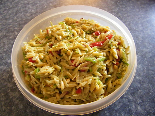 'Christmas' Orzo Pesto Salad